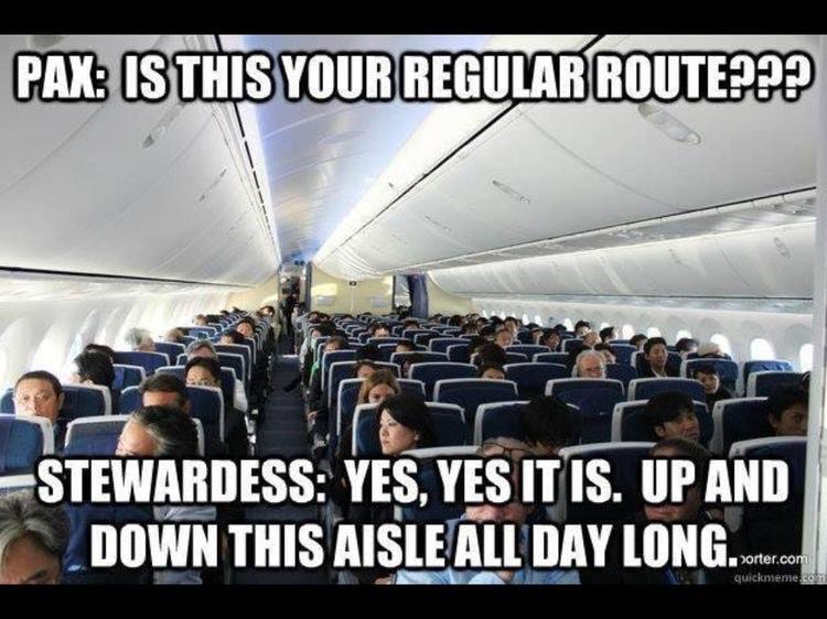 boarding flight attendants